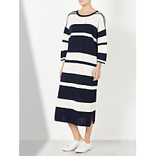 Buy Kin by John Lewis Striped Knitted Dress, Navy/White Online at johnlewis.com