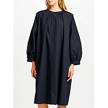 Buy Kin by John Lewis Poplin Smock Dress, Navy Online at johnlewis.com