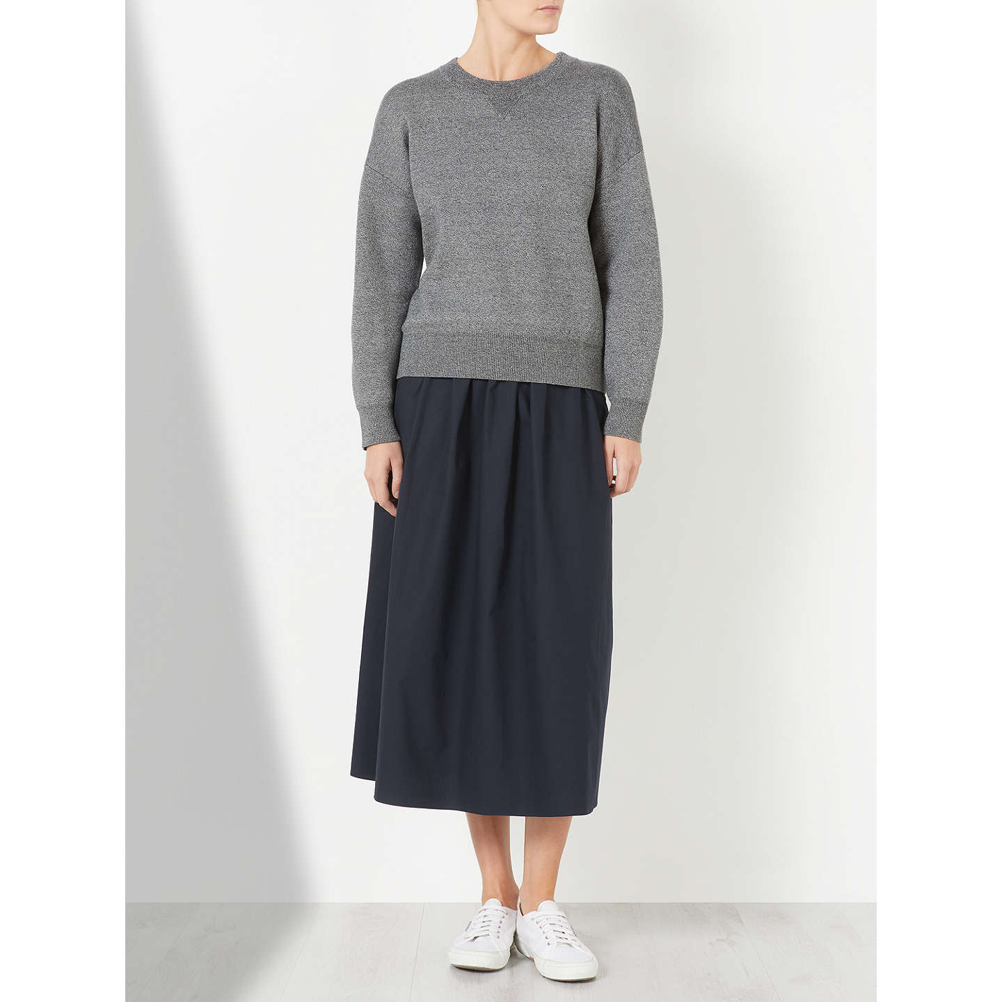 BuyKin by John Lewis Compact Cotton Jumper, Grey, S Online at johnlewis.com