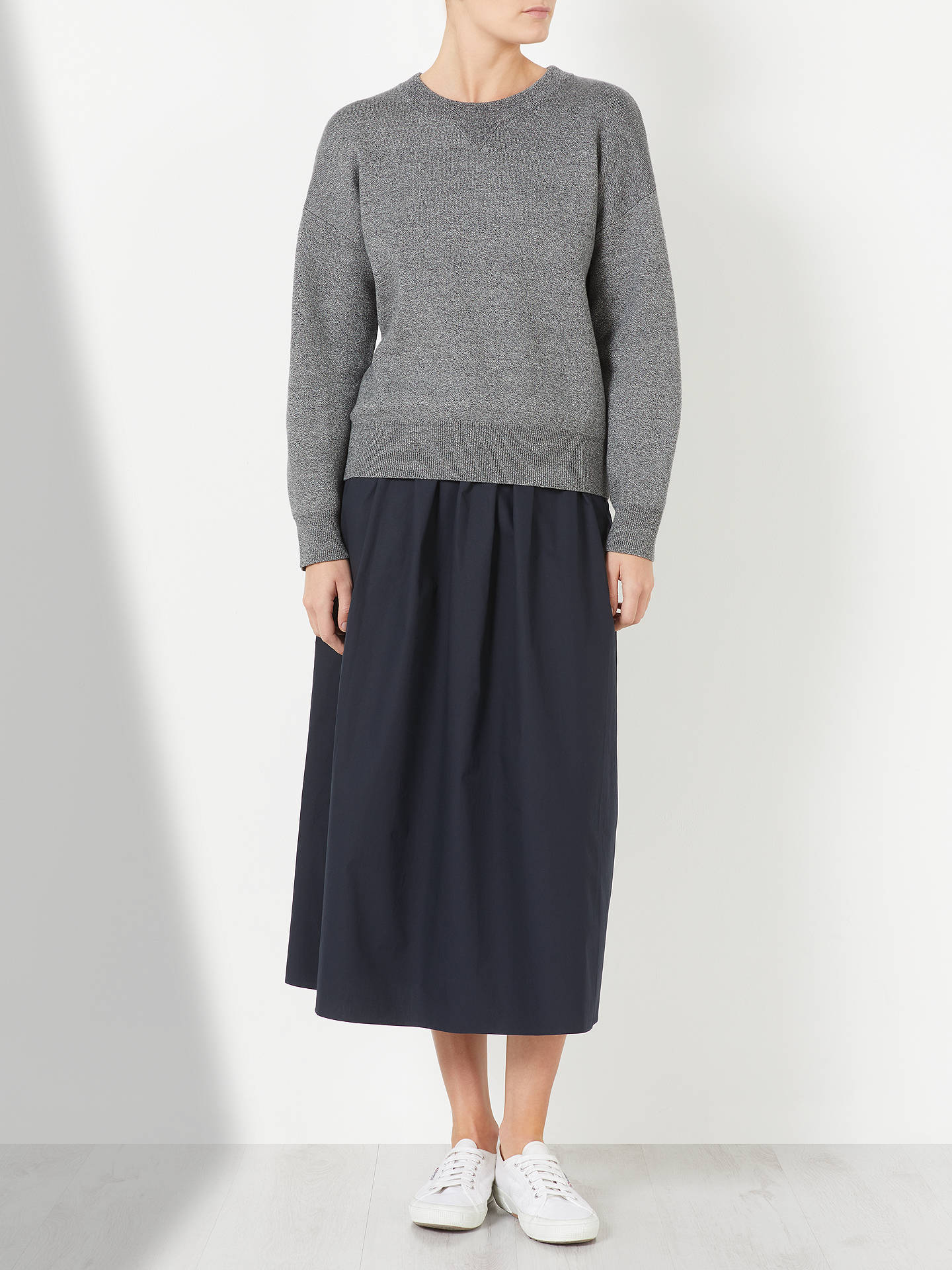 BuyKin Compact Cotton Jumper, Grey, S Online at johnlewis.com