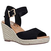 Buy Miss KG Paisley Wedge Heeled Sandal, Black Online at johnlewis.com