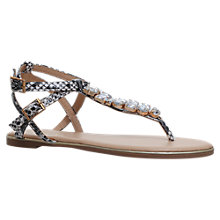 Buy Miss KG Rosa Jewelled Toe Post Sandals, Beige Comb Online at johnlewis.com