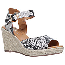 Buy Miss KG Paisley Wedge Heeled Sandals, Beige Comb Online at johnlewis.com