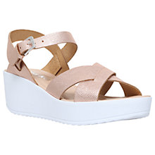 Buy Miss KG Parker Wedge Heeled Sandals, Gold Online at johnlewis.com
