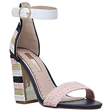 Buy Miss KG Ebony Block Heeled Sandals, Metal Comb Online at johnlewis.com