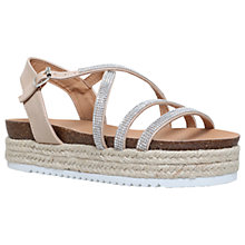 Buy Miss KG Ramone Embellished Flatform Sandals, Nude Online at johnlewis.com