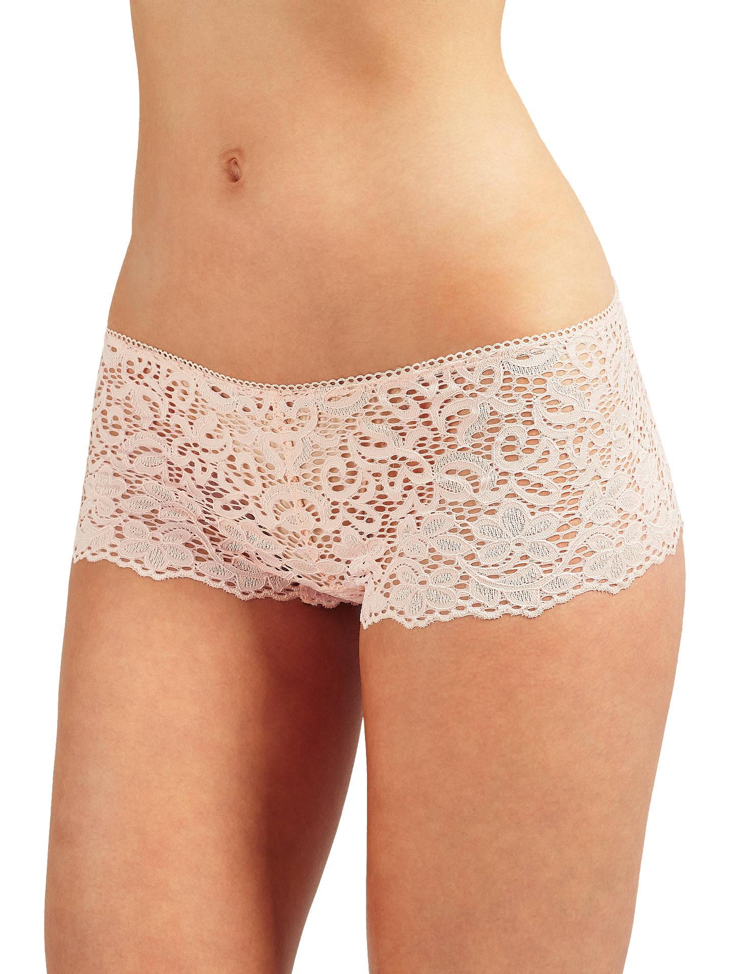 b25838fb37d Buy DKNY Classic Lace Boy Shorts, Blush, S Online at johnlewis.com ...