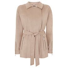 Buy Mint Velvet Faux Suede Biker Jacket, Neutral Online at johnlewis.com