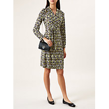 Buy Hobbs Frida Dress, Green/Multi Online at johnlewis.com