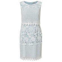 Buy Precis Petite Abra Lace Dress, Pastel Blue/Multi Online at johnlewis.com