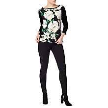 Buy Precis Petite Jayna Patch Panel Jumper, Black Online at johnlewis.com