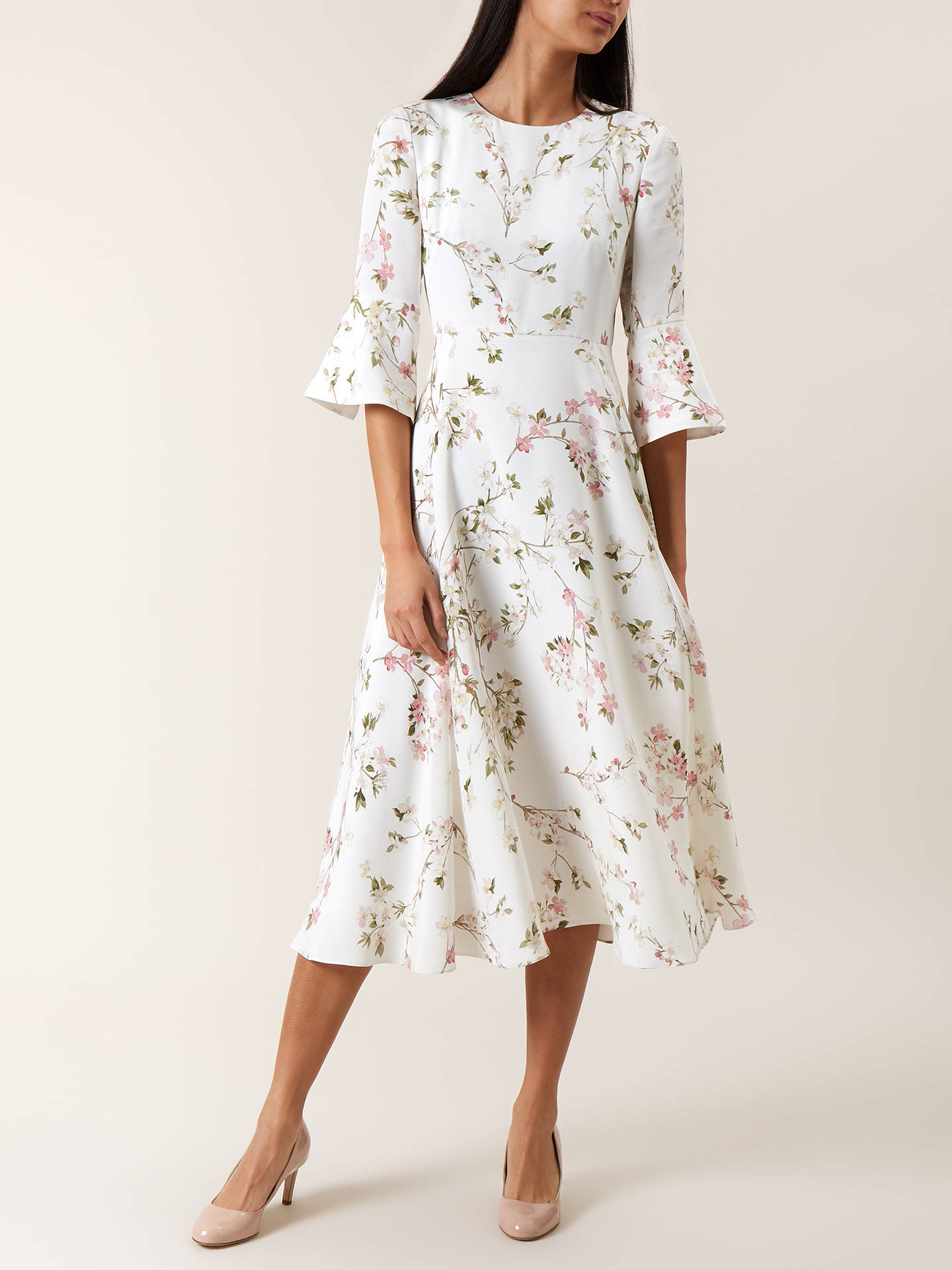 1b00a977 Buy Hobbs Agatha Dress, Ivory Multi, 6 Online at johnlewis.com ...