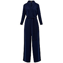 Buy Ted Baker Tierly Tailored Wrap Jumpsuit, Navy Online at johnlewis.com