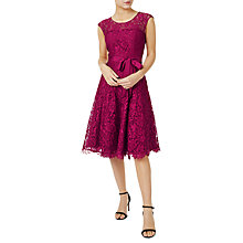 Buy Precis Petite Jada Lace Prom Dress, Dark Pink Online at johnlewis.com