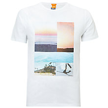 Buy BOSS Orange Tacket 3 Graphic Print T-Shirt Online at johnlewis.com