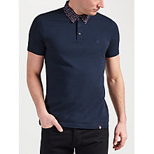 Buy Pretty Green Rindle Floral Print Collar Polo Shirt Online at johnlewis.com
