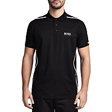 Buy BOSS Green Pro Golf 'Paddy MK 2' Stretch Cotton Polo Shirt, Black Online at johnlewis.com