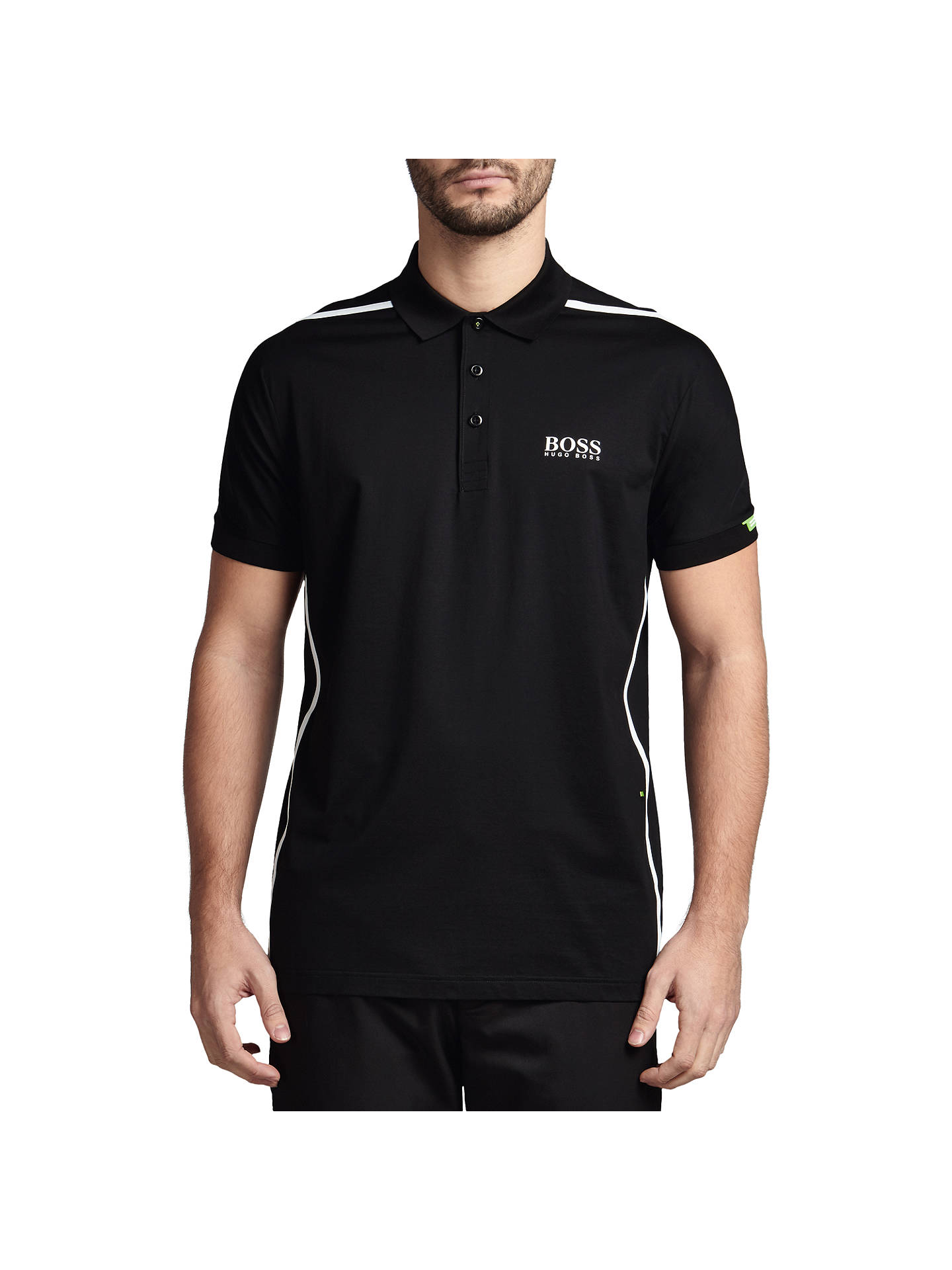 1977e366 Buy BOSS Green Pro Golf 'Paddy MK 2' Stretch Cotton Polo Shirt, Black ...