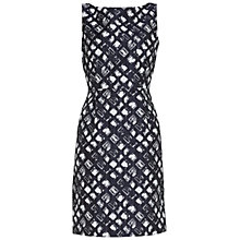 Buy Gina Bacconi Geometric Jacquard Dress, Spring Navy Online at johnlewis.com