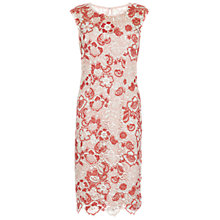 Buy Gina Bacconi Tonal Embroidery Dress, Cinammon Online at johnlewis.com