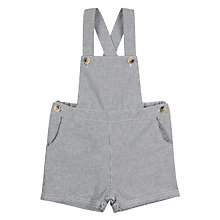 Buy Wheat Baby Erik Striped Dungaree, Navy Online at johnlewis.com