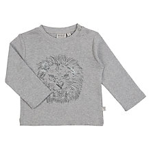 Buy Wheat Baby Angry Lion T-Shirt, Grey Marl Online at johnlewis.com