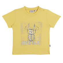 Buy Wheat Baby Beetle Short Sleeve T-Shirt, Yellow Online at johnlewis.com