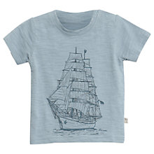 Buy Wheat Baby Tall Ship T-Shirt, Blue Online at johnlewis.com