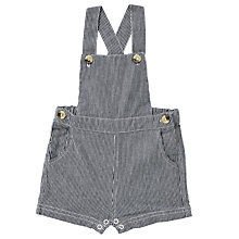 Buy Wheat Baby Stripe Denim Dungarees, Blue Online at johnlewis.com