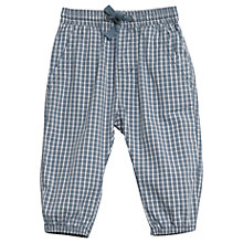 Buy Wheat Baby Malthe Check Cotton Trousers, Blue Online at johnlewis.com