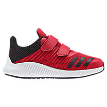 Buy Adidas Forta Run CF Riptape Children's Sports Trainers, Red/Black Online at johnlewis.com