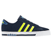 Buy Adidas Children's Daily Team Trainers, Navy Online at johnlewis.com