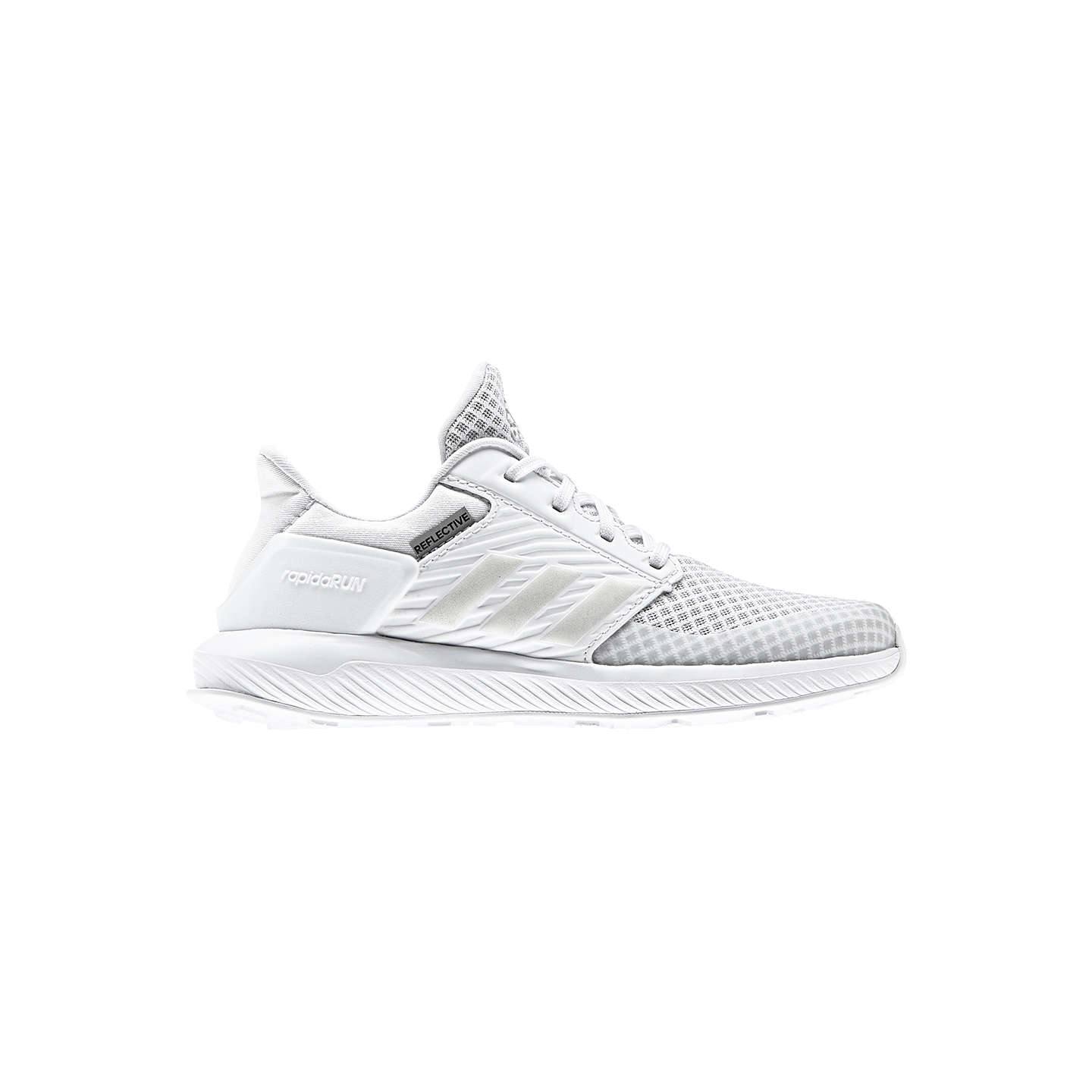 Buyadidas Children's Rapida Run K Lace Up Trainers, White, 10 Jnr Online at  johnlewis ...