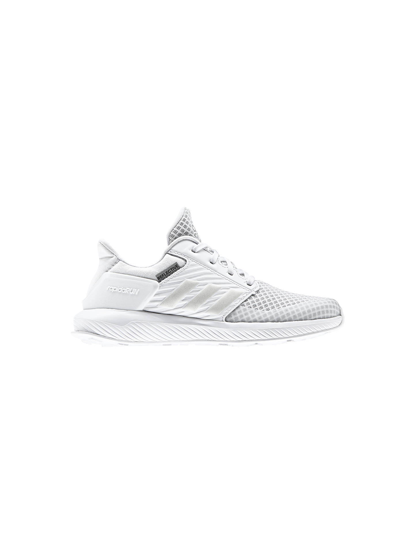 Buy adidas Children's Rapida Run K Lace Up Trainers, White, 10 Jnr Online at johnlewis.com