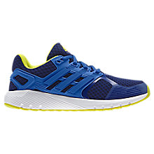 Buy adidas Duramo 8 K Lace-Up Children's Trainers, Blue/Yellow Online at johnlewis.com