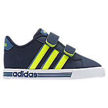 Buy Adidas Children's Daily Team Infant Trainers, Navy Online at johnlewis.com