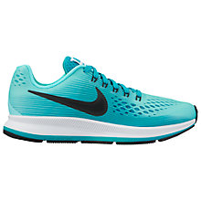 Buy Nike Children's Zoom Pegasus 34 (GS) Trainers, Green Online at johnlewis.com