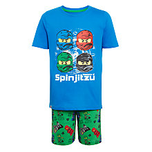 Buy LEGO Ninjago Children's Short Pyjamas, Blue Online at johnlewis.com