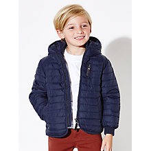 Buy John Lewis Boys' Raveen Puffer Quilted Jacket, Navy Online at johnlewis.com