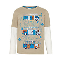 Buy John Lewis Children's Camper Van T-Shirt, Brown Online at johnlewis.com