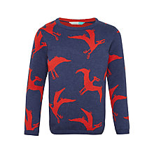 Buy John Lewis Boys' Pterodactyl Print Jumper, Navy Online at johnlewis.com