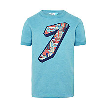 Buy John Lewis Seven Print T-Shirt, Aqua Online at johnlewis.com