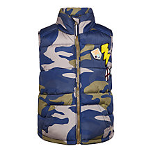 Buy John Lewis Boys' Badged Gilet, Camouflage Online at johnlewis.com