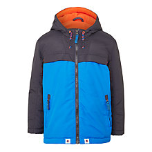 Buy John Lewis Boys' Comedy Colour Block Jacket, Blue/Grey Online at johnlewis.com