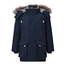 Buy John Lewis Boys' Padded Parka Jacket, Navy Online at johnlewis.com