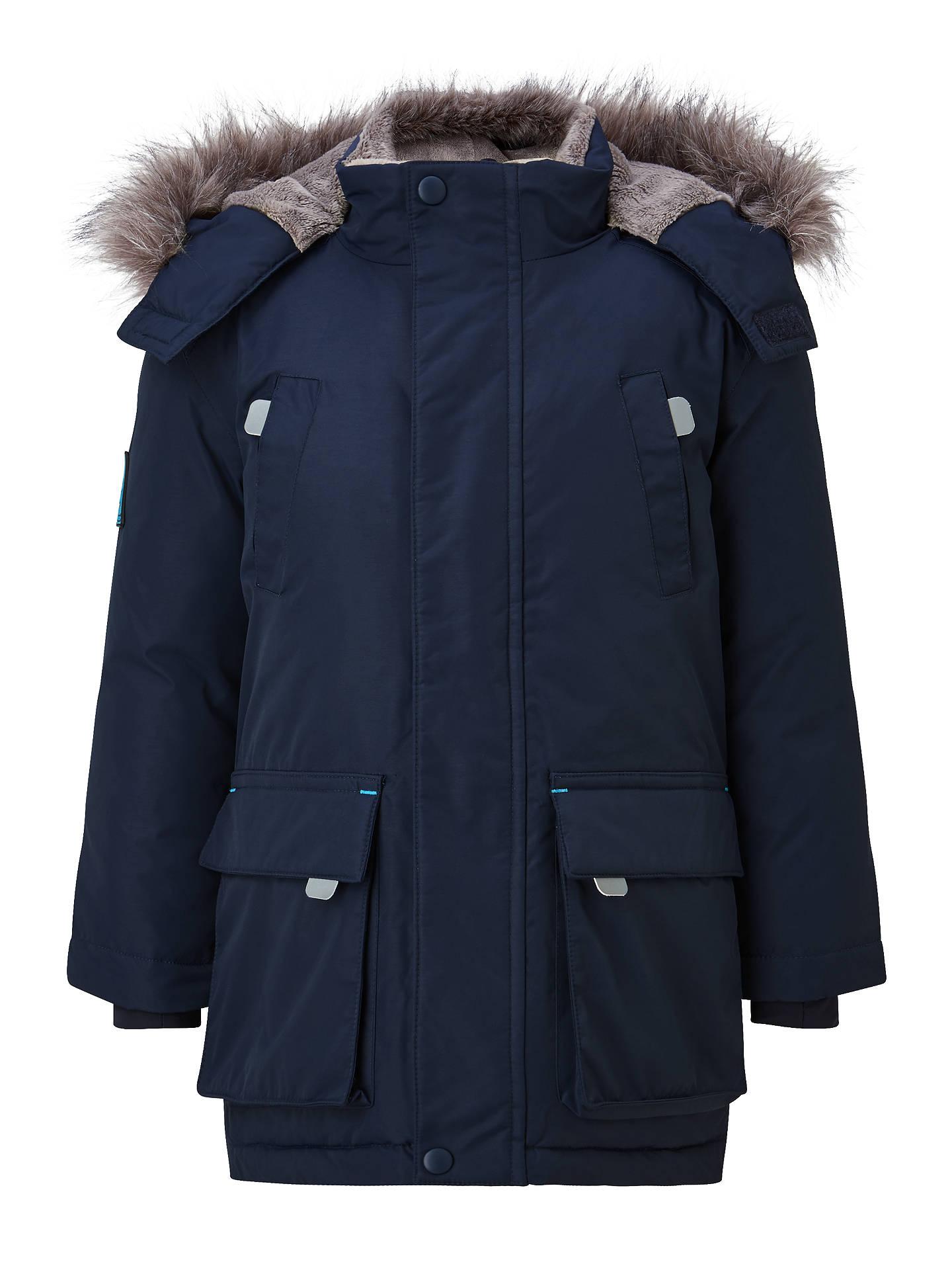 d2690c0e8f4 Buy John Lewis Boys' Padded Parka Jacket, Navy, 2 years Online at johnlewis  ...