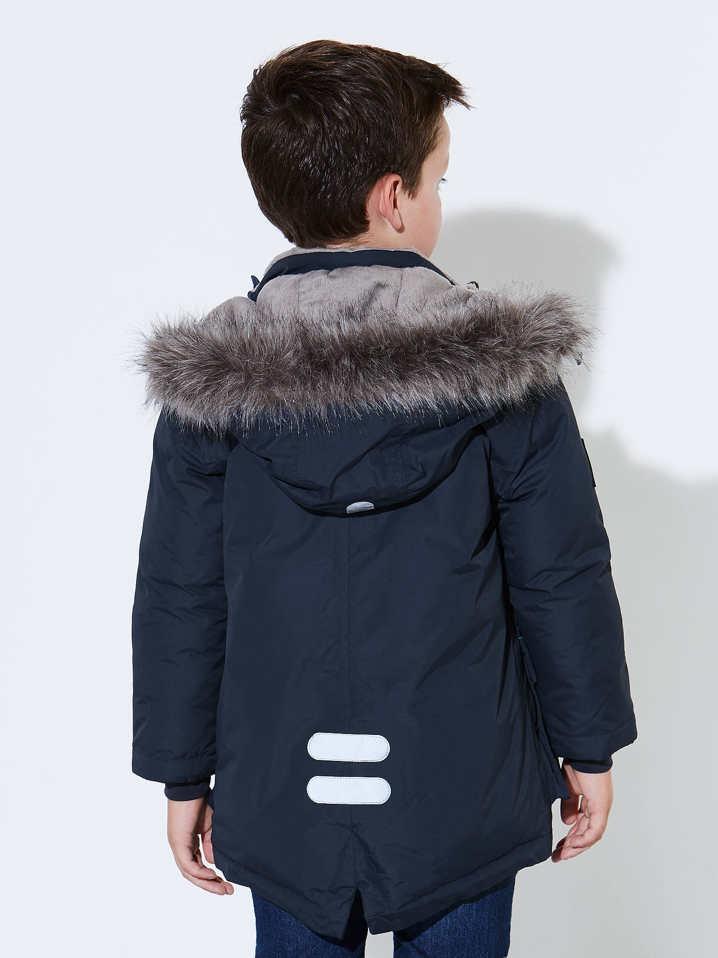 5de8a927957 ... Buy John Lewis Boys' Padded Parka Jacket, Navy, 2 years Online at  johnlewis ...