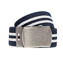 Buy John Lewis Children's Stripe Stretch Belt, Navy Online at johnlewis.com
