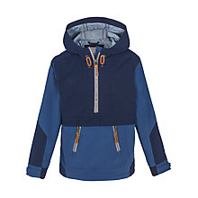 Buy Fat Face Boys' Falmouth Popover Jacket, Navy Online at johnlewis.com