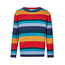 Buy John Lewis Boys' Striped Knitted Jumper, Multi Online at johnlewis.com